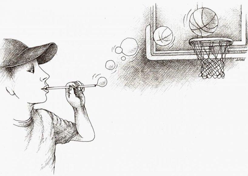 Viena iš V.Beresniovo karikatūrų.