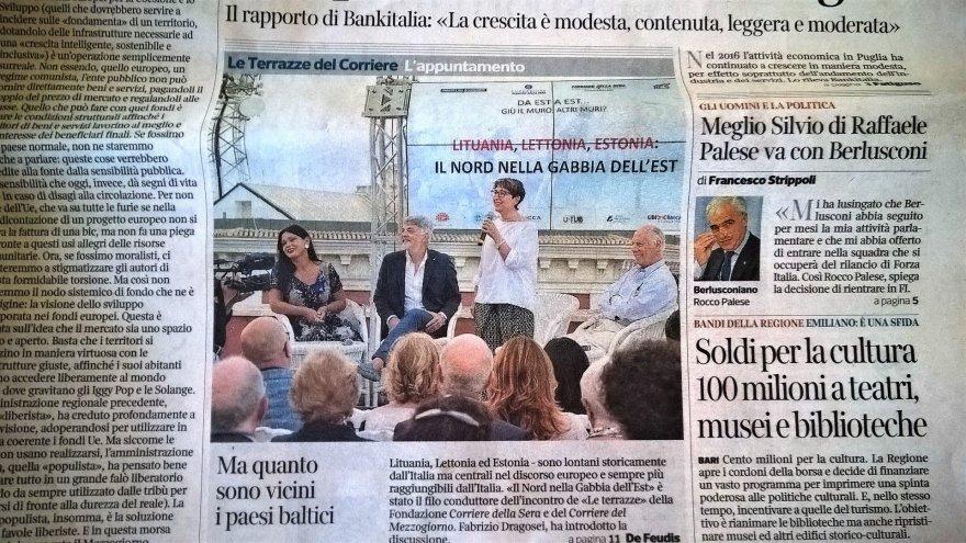 """Pauliaus Jurkevičiaus/ Tavo Roma nuotr./Dienraštis """"Il Corriere della Sera"""""""