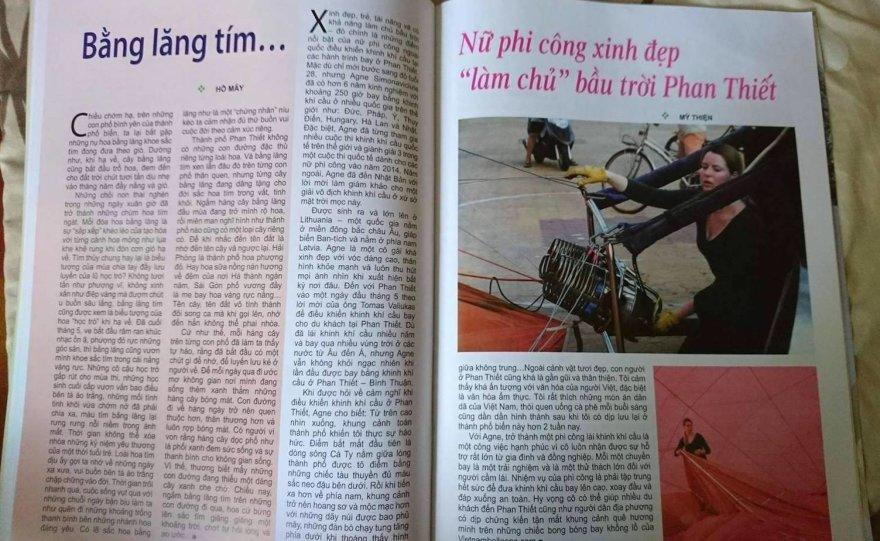 Straipsnio herojų nuotr./Straipsnis Vietnamo spaudoje apie lietuvę oreivę Agnę Simonavičiūtę
