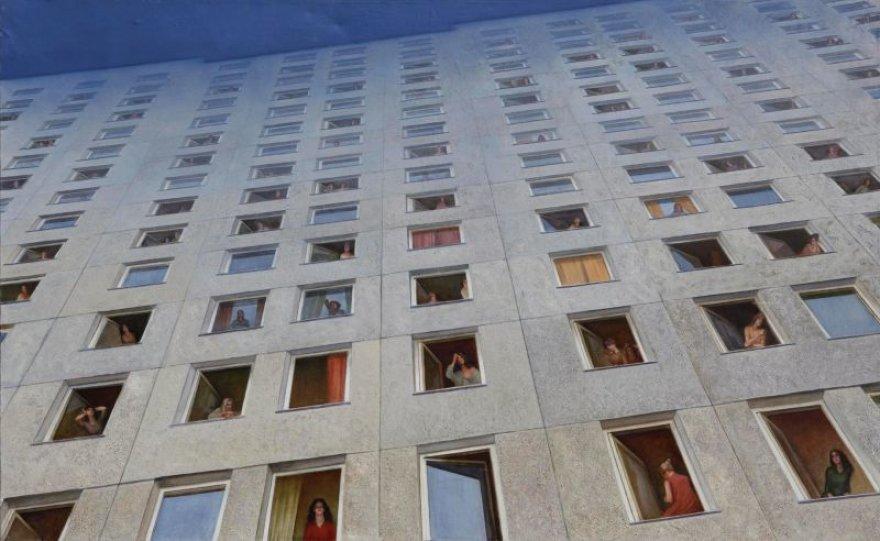 Parodos kūriniai pristato sovietinį Kauną: Prano Griušio kūrinys.