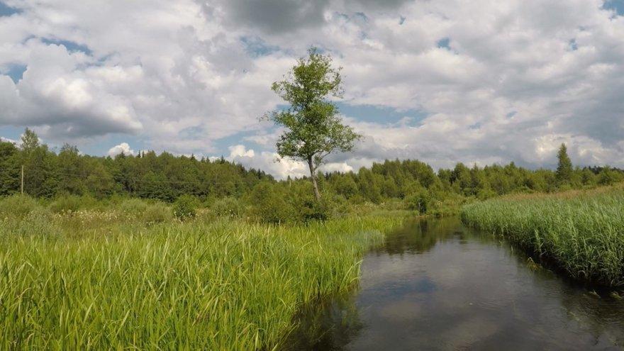 """""""Active Trips"""" nuotr./Ekspedicijos """"Baidarė upėje"""" dalyviai plaukia Lakaja"""