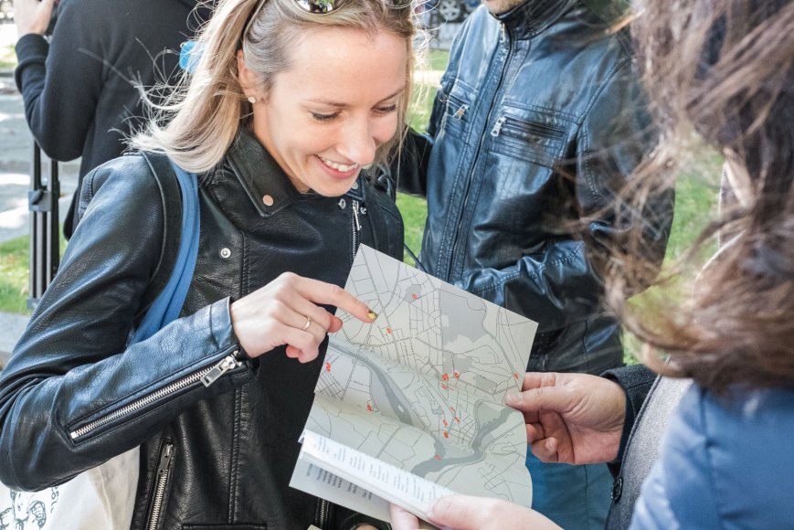 Remio Ščerbausko nuotr./Surasti po visą miestą išbarstytus Kauno bienalės'17 objektus padės žemėlapis