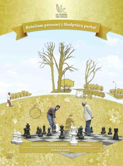 Paerke bus įrengta šachmatų aikštelė.