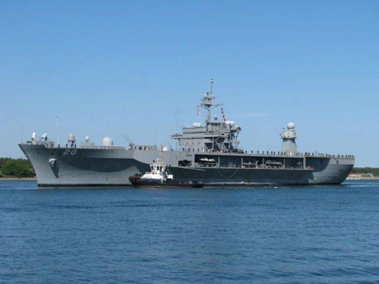 """Į Klaipėdą atplauks karinis JAV laivas """"Mount Whitney""""."""