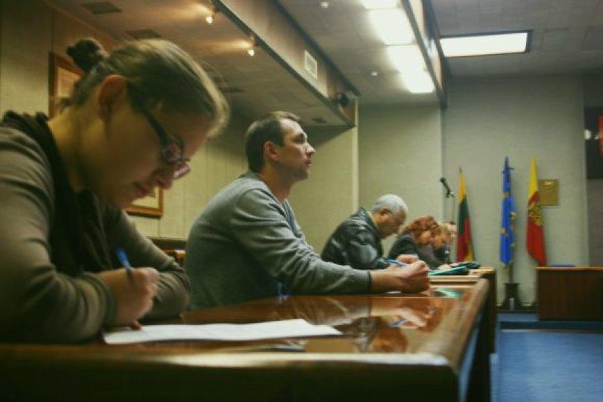 Klaipėdoje Konstitucijos egzamine dalyvavo 15 žmonių.