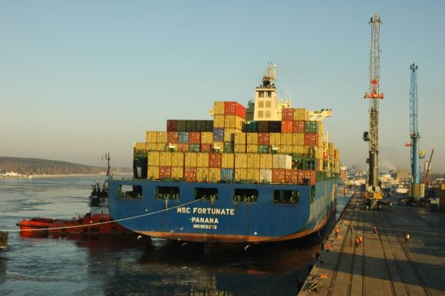 """""""MSC Fortunate"""" yra didžiausias laivas-konteinervežis, kada nors apsilankęs Klaipėdos uoste ir kartu vienas didžiausių laivų, atvykusių į uostamiestį."""