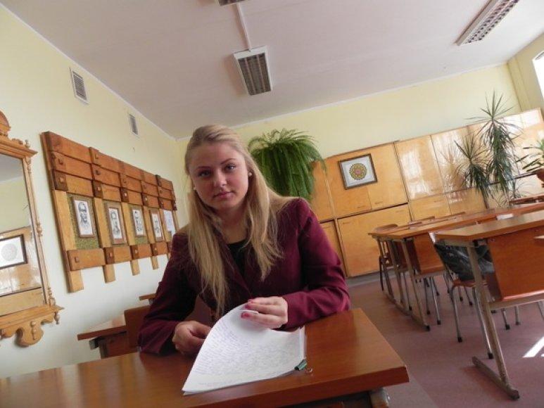 Egzaminus pradėjusi laikyti Klaipėdos Vytauto Didžiojo gimnazijos abiturientė V.Freigofaitė jau yra įstojusi į universitetą Anglijoje.