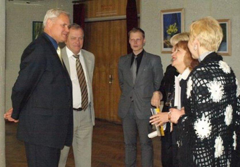 Klaipėdos meras V.Grubliauskas susitiko su renginio atstovais.