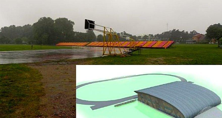 Šiuolaikišką salę planuojama statyti Palangos centrinio stadiono teritorijoje.