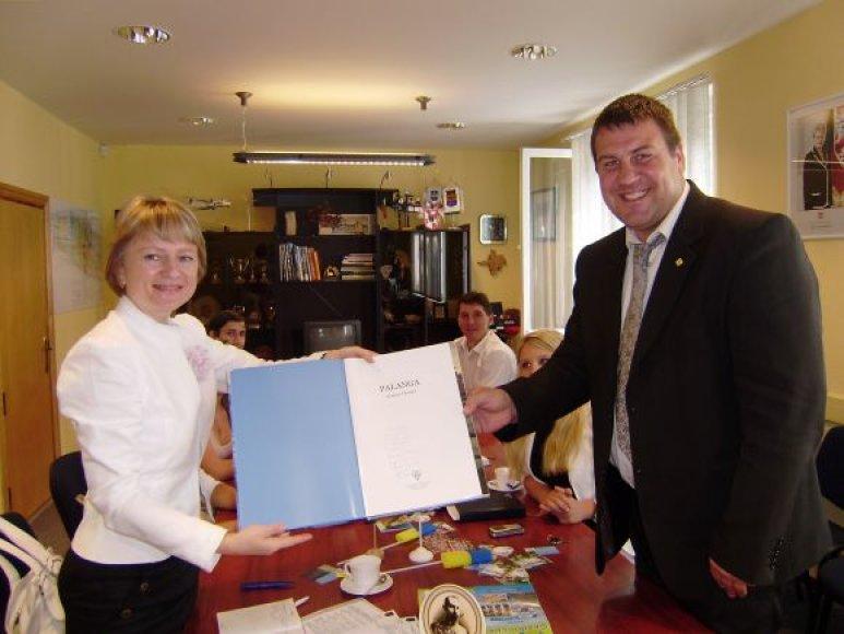 Palangos vicemeras Saulius Simė priėmė ukrainiečių delegaciją.