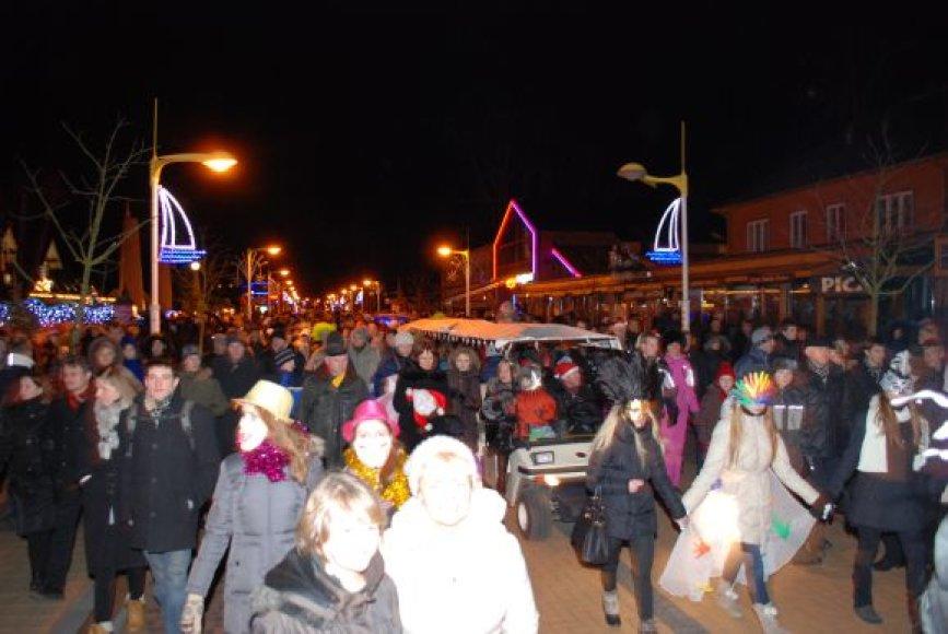 Palangoje Naujuosius metus sutiko minia žmonių.