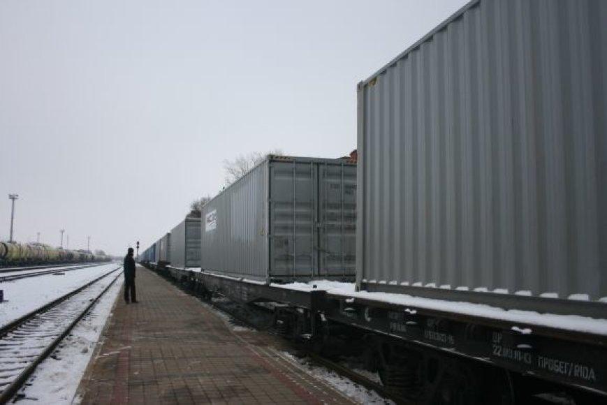 Konteineriais į iš Azijos į Vakarus bus vežami įvairiausios paskirties kroviniai.