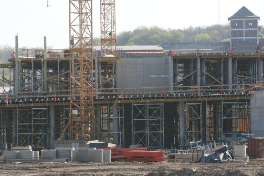 Statybų mastai mažėja.