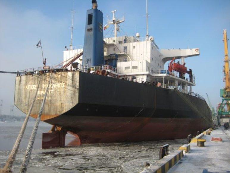 Penktadienį uoste švartavosi didžiausiasa trąšovežis, išgabensiantis apie 80 tūkst. tonų kalio trašų.