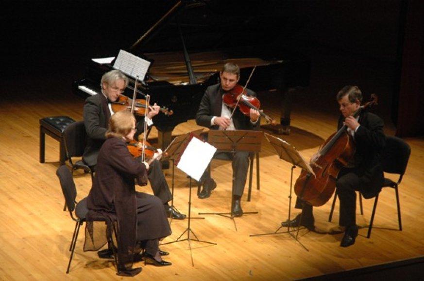Vilniaus kvartetas šį vakarą koncertuos klaipėdiečiams.