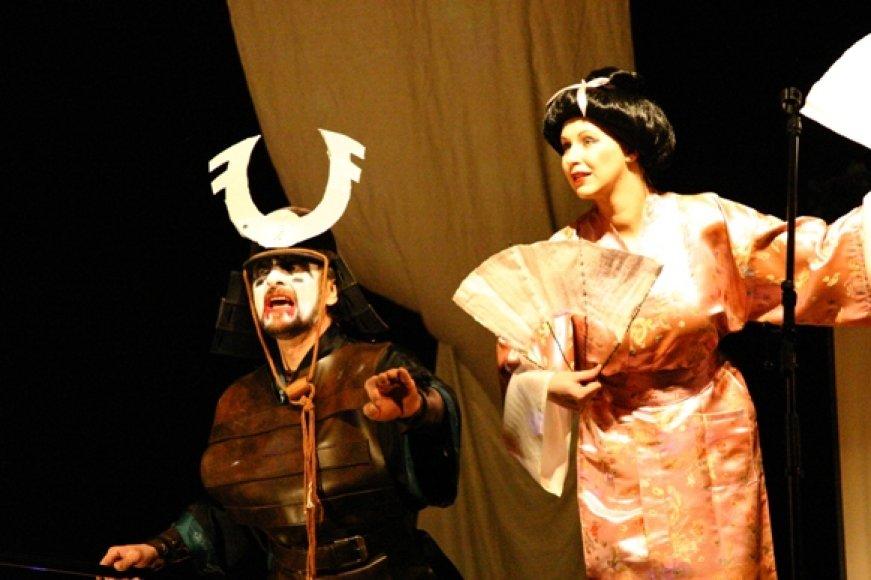 """""""Atvirkštukai"""" šeštadienį Klaipėdoje parodys vaidinimą pagal japonų liaudies pasaką."""