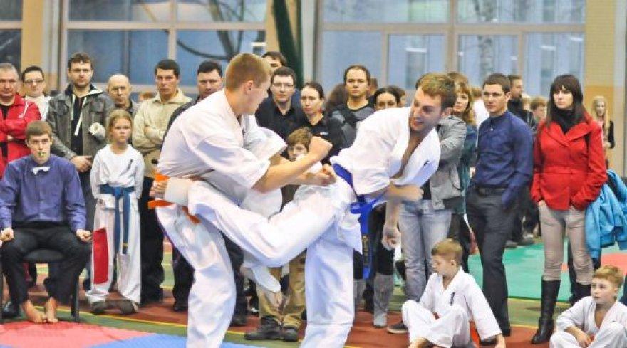 Kyokushin karatė varžybose klaipėdiečiai iškovojo krūvą medalių.