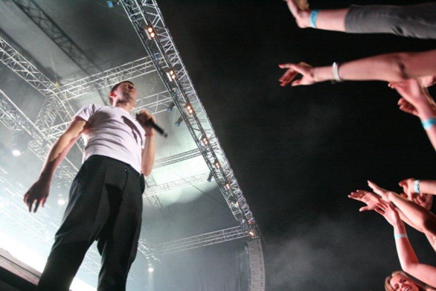 Grupės SEL lyderis Egidijus Dragūnas prikėlė Klaipėdos vasaros estradą - ji buvo sausakimša.