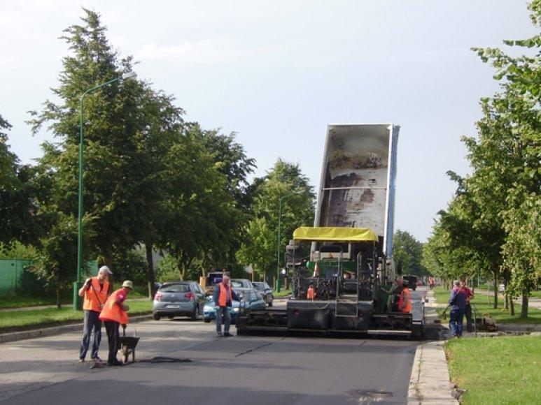 Medvalakio gatvė jau remontuojama