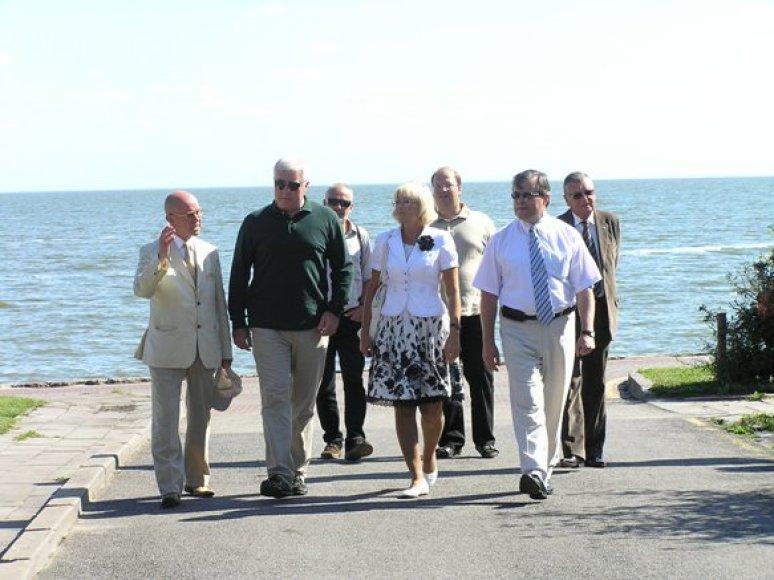 Neringoje lankėsi delegacija iš Gruzijos.