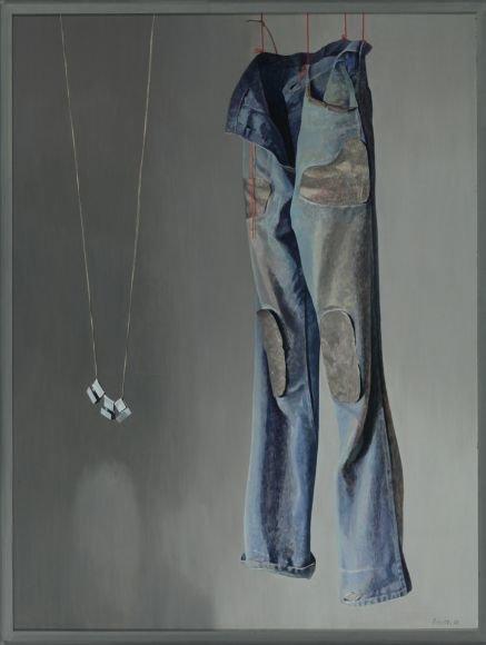 """Algimanto Švėgždos kūrinys """"Džinsai""""  1978 m."""