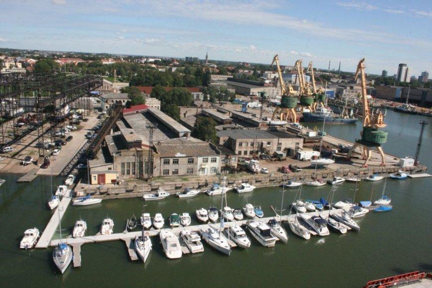 Klaipėdos uostas nuo laivo denio