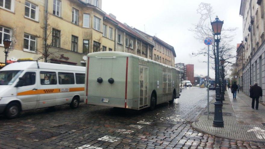 J.Andriejauskaitės/15min.lt nuotr./Elektra varomas autobusas