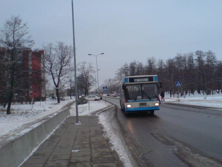 Įsigalėjus šalčiui, autobusų vairuotojai priversti kalenti dantimis, nes stotelėse keleiviai lipa per priekines duris.