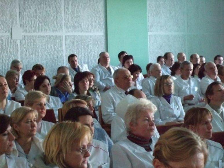 Klaipėdos universitetinės ligoninės medikai drąsiai reiškė savo nuomonę.