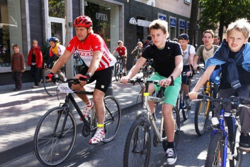 M.Umaras nuolat dalyvauja uostamiestyje rengiamuose dviračių žygiuose.