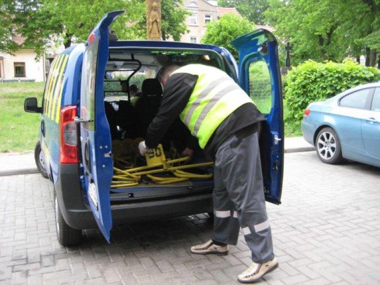 Per pirmą šių metų ketvirtį Klaipėdoje buvo užblokuoti daugiau kaip 1000 automobilių ratai.