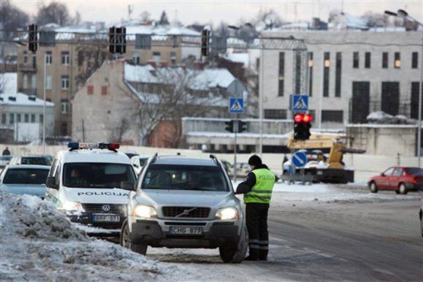 Vakar Kauno gatvėse buvo galima išvysti kiek daugiau patruliuojančių policininkų nei įprasta.