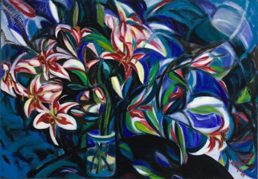 Dailininko Floridoje sukurtuose darbuose vyrauja šiltos spalvos ir teigiama nuotaika.