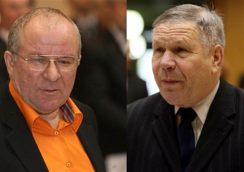 Kęstutis Mikėnas (kairėje) ir Vytautas Vasilenko