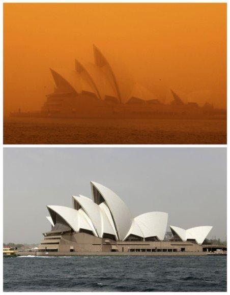 Sidnėjus apgaubtas smėlio dulkėmis