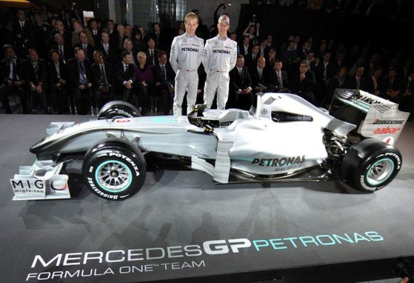 Nico Rosbergas ir Michaelis Schumacheris