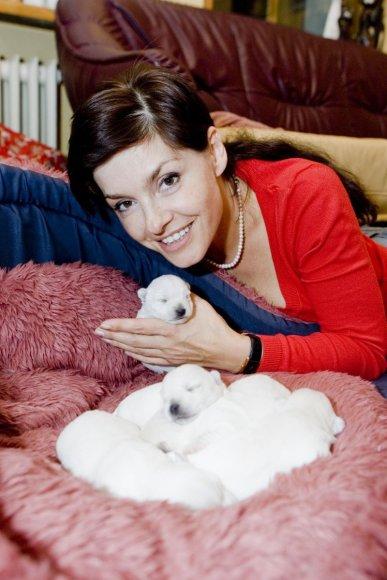 """Foto naujienai: Kristinos Kaikarienės laukia šuniškos """"krikštynos"""""""