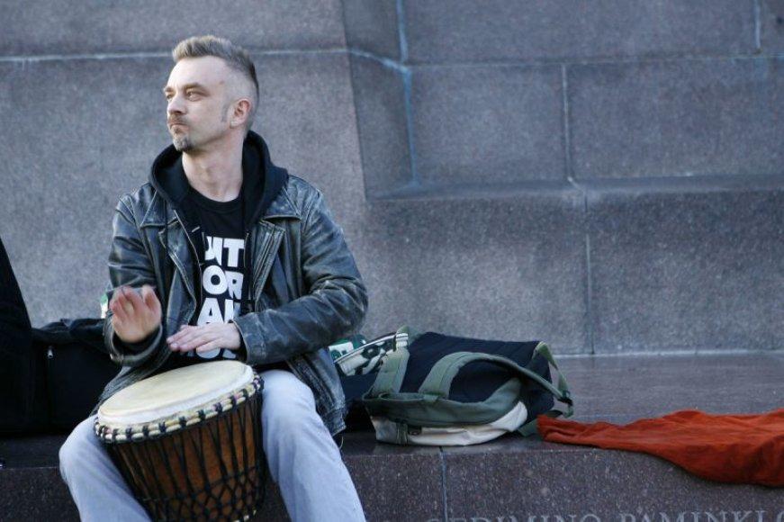 Foto naujienai: Andrius Mamontovas: gatvės muzikos diena bus!