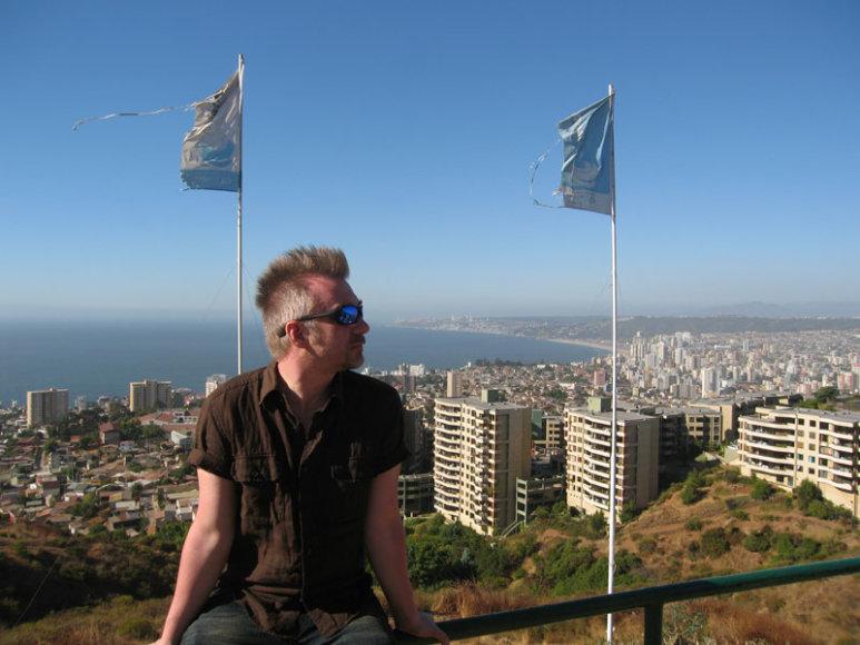 Foto naujienai: Andrius Mamontovas perkaito Čilės saulėje