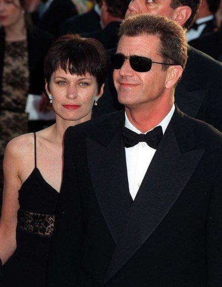 Foto naujienai: Melas Gibsonas ir Robyn Moore.  Brangiausios skyrybos?