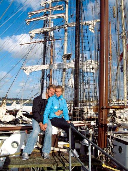 Foto naujienai: Gintarė ir Robertas Scheidtai: po sidabro metų – auksinis berniukas