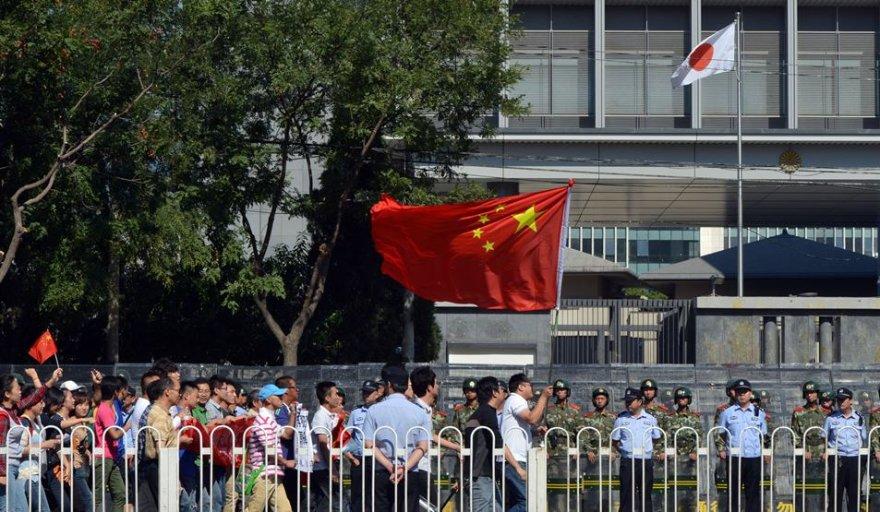 Protestai Kinijoje prie Japonijos ambasados