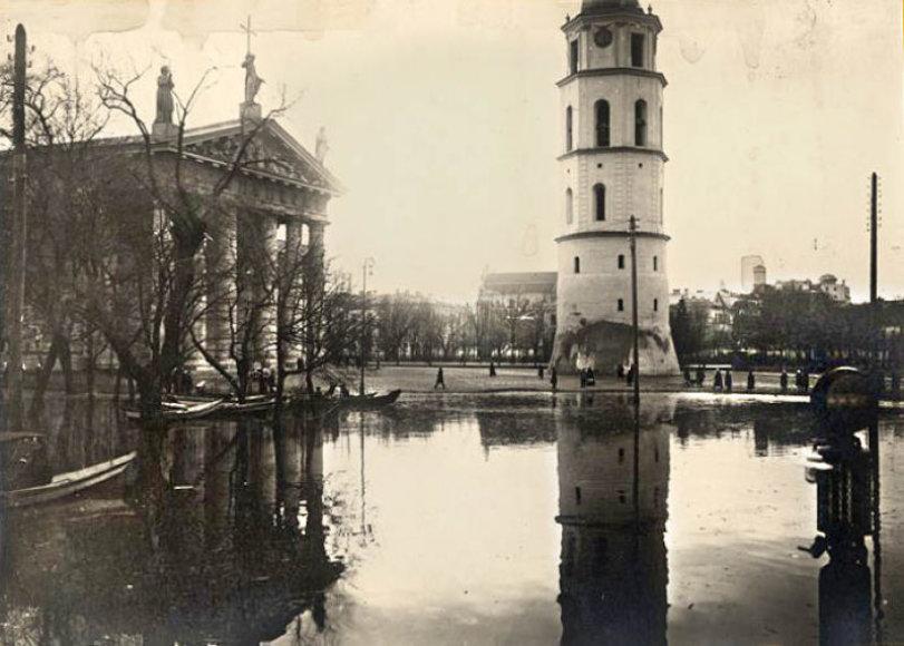 Apsemta Kateros aikštė 1931 metais.e-paveldas.lt nuotr.