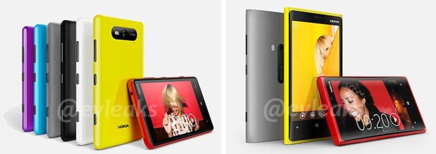 """Internete nutekėjo tariamos """"Nokia Lumia 820"""" (k.) ir """"Lumia 920"""" nuotraukos."""