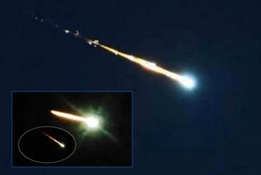 Penktadienį Britų salų gyventojus išgąsdino iš dangaus krintantys liepsnojantys objektai.