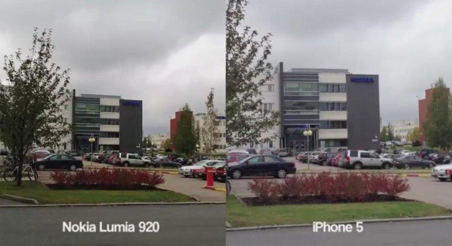 """""""Nokia Lumia 920"""" ir """"Apple iPhone 5"""" filmavimo galimybių palyginimas."""