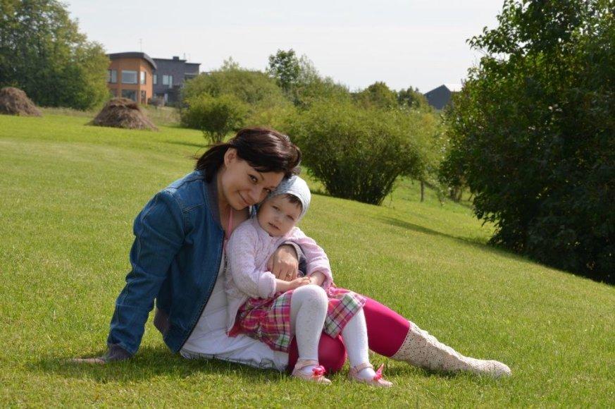 Rūta Lukoševičiūtė su dukrele Lėja Kornelija