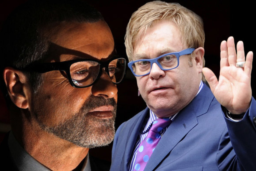 George'as Michaelas ir Eltonas Johnas