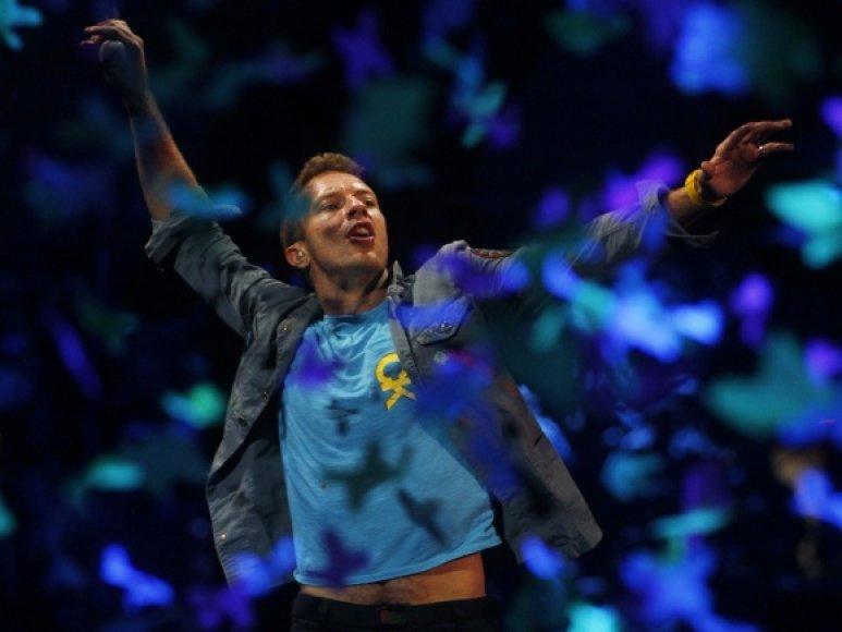 """Grupės """"Coldplay"""" vokalistas Chrisas Martinas"""