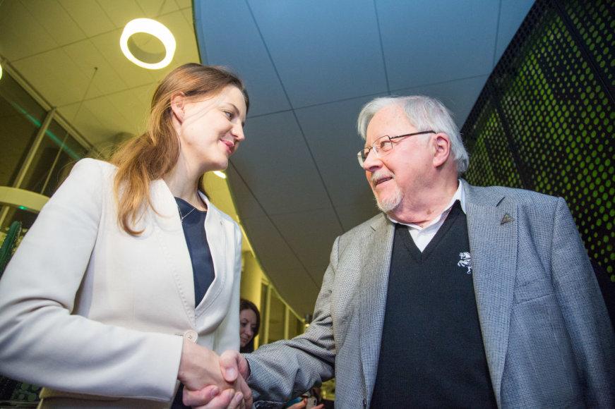Juliaus Kalinsko / 15min nuotr./Monika Navickienė ir Vytautas Landsbergis